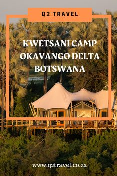 All about one of the most remote camps in the Okavango Delta, surrounded by Palm, Mangosteen & fig trees