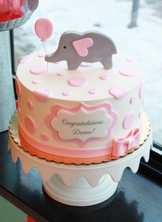 Manificent Design Elephant Cake Toppers For Ba Shower Super with regard to sizing 1325 X 1766 Baby Shower Cake Ideas With Elephants - Customized invitations with personal touches happen to […] Torta Baby Shower, Tortas Baby Shower Niña, Idee Baby Shower, Elephant Baby Shower Cake, Elephant Cakes, Cheap Baby Shower, Shower Bebe, Simple Baby Shower, Elephant Party