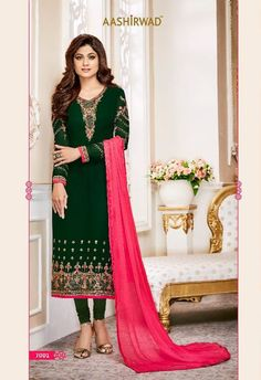 India Emporium provides you with a beautiful collection of casual and party wear salwar Kameez. We also offer designer salwar kameez that you can sport on special occasions. Patiala Suit, Churidar Suits, Anarkali Suits, Buy Salwar Kameez Online, Achkan, Green Satin, Festival Wear, Wedding Wear, Bollywood Fashion