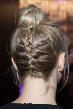 Julianne Hough braid bun.