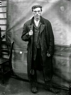 Whitechapel lad from 1900, a resident of the Whitechapel Mission.