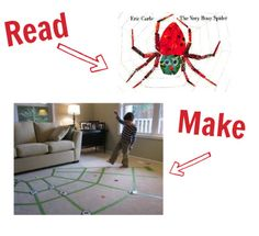 Fun activity for the Very Busy Spider. 24 other classic books with activities to match in the post.