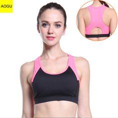 c2fe94c080 Vertvie Yoga Sports Bra Women Push Up Shakeproof Seamless Sports Bras  Fitness Running Printed Patchwork Breathable Yoga Bra New