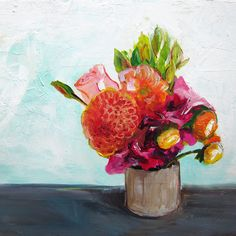 Summer Bouquet - Prints and Original Acrylic Painting
