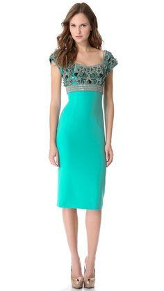 L'Wren Scott Short Sleeve Dress - pretty for that special occasion. L'wren Scott, Beach Dresses, Girls Dresses, Dress Up, Bodycon Dress, Sheath Dress, Saree Gown, Types Of Dresses, Work Attire