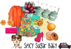 """""""Spicy Sugar Baby"""" by rhinestonesandrouge on Polyvore"""
