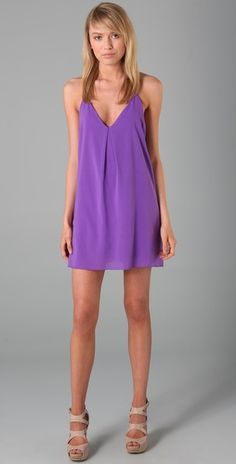 purple alice + olivia dress