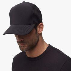 9ff2f1fe45b NEW 2016  Black Scuba Trucker Hat - James Perse Mens Trucker Hat