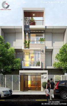 Mẫu thiết kế nhà phố 3 tầng đẹp hiện đại - Kiến An Vinh