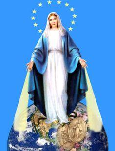 Aparição de Nossa Senhora das Graças na França - 1830 A Santa Catarina Labouré - a Imaculada Virgem Maria da Medalha Milagrosa.