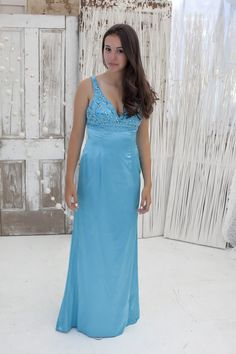 Beaded Teal Dress for $99