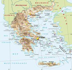 CARTE de la GRECE   Europa-planet