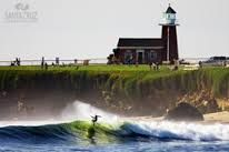 Santa Cruz, CA. There's a surfing museum inside the historic lighthouse.