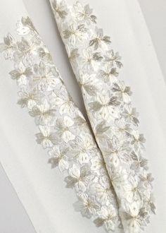 正絹,手刺繍半衿