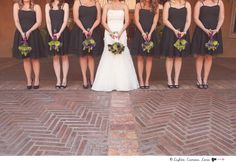 #bridal #party #poses with #bouquets  More Wedding Ideas at www.facebook.com/villasiena