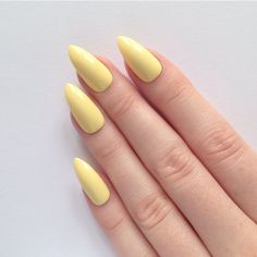 Pastel Yellow Stiletto nails, Nail designs, Nail art, Nails, Stiletto... (225 ZAR) ❤ liked on Polyvore featuring beauty products, nail care, nail treatments, nails and yellow nail treatment