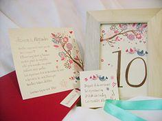 numeros de mesa casamiento