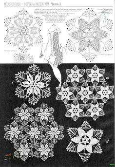 Fabulous Crochet a Little Black Crochet Dress Ideas. Georgeous Crochet a Little Black Crochet Dress Ideas. Crochet Stars, Crochet Snowflakes, Thread Crochet, Crochet Stitches, Crochet Tablecloth, Crochet Doilies, Crochet Flowers, Crochet Lace, Crochet Dresses