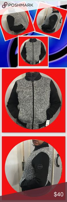 Bebe Sport  Casual Wear Jacket Spring Perfect. Dressy or Sporty and Warm Front TweeShell Contrast Face 100 % Polyester Contrast Back. 100% Polyester. Rib knit. 80% Polyester & 20% Spandex bebe Jackets & Coats