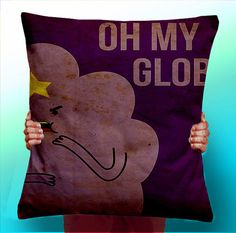 Adventure Time Princess Lumpy Oh My Glob Face - Cushion / Pillow Cover / Panel / Fabric