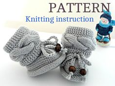 Knitting P A T T E R N Baby Booties Baby Shoes by Solnishko43