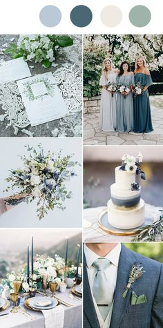 10 Perfect Shades of Green Wedding Color Ideas for Spring/Summer 2019 - Oh Best Day Eversage green and dusty blue wedding color DIY Wedding Decorations That Will Make A Spring Wedding Memorable - Trendy Wedding, Perfect Wedding, Rustic Wedding, Casual Wedding, Wedding Greenery, Wedding Unique, Creative Wedding Ideas, Wedding Details, Wedding Bells