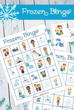 Free Frozen 2 Bingo Game - onecreativemommy.com