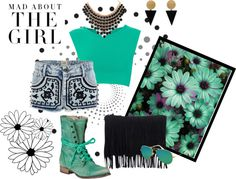 """Mint Grunge"" by axeloner on Polyvore"