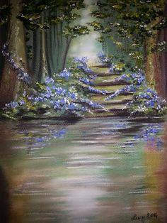 """""""Nel bosco"""" di Luciana Giaccaglia   Soft Pastels"""