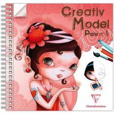Carnet de dessin Créativ' Model Paris 4 Coiffure et maquillage - 50 pages http://www.creavea.com/carnet-de-dessin-creativ-model-paris-4-coiffure-et-maquillage-50-pages_boutique-acheter-loisirs-creatifs_18312.html