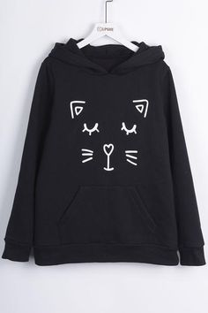 Our essential one-pocket cat print sweatshirt has a classic fit and broken-in feel.Product Code: CSY604 Details: Cat printing Hoodie Fleece lining Regular wash
