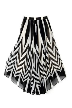 Weaved Print Irregular Hem Ankle Length Skirt, solid bright red top and heels to make this an outfit