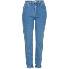 MOTO Vintage Mom Jeans ($70) ❤ liked on Polyvore featuring jeans, pants, bottoms, vintage jeans, topshop jeans and blue jeans