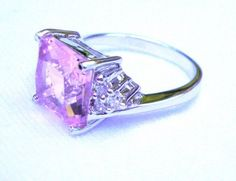 'Exquisite Pink Gemstone Ring' is going up for auction at  7pm Mon, Oct 22 with a starting bid of $6.