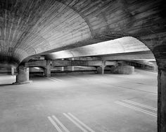 Paul Rudolph - Temple Street Parking Garage, New Haven  1963  -  via #1, #2  © Ezra Stoller