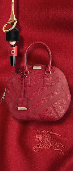 Burberry London ~ The Small Orchard Bag in Embossed Check Leather daeb5d4446b6f