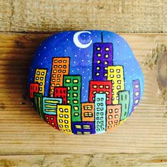 Rock Painting is a beautiful rock decorating art with colorful paint. The art of rock painting is very easy and very economical. Rock painting is perfect as a gift or used to… Continue Reading → Rock Painting Ideas Easy, Rock Painting Designs, Paint Designs, Painting Patterns, Pebble Painting, Pebble Art, Stone Painting, City Painting, Stone Crafts