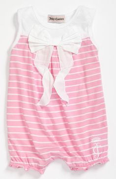Juicy Couture Stripe Coveralls (Infant) available at #Nordstrom