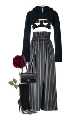 """Untitled #1084"" by jetadorejas ❤ liked on Polyvore featuring Enföld, Bordelle, Assin, Chanel, Cross and Balenciaga"