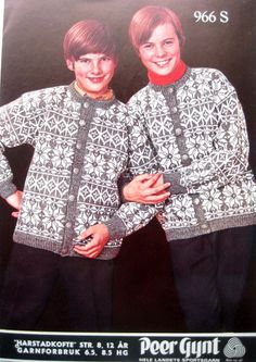 Harstadkofte 966 Knitting Stitches, Knitting Patterns, Norwegian Knitting, Norway, People, Shirt Dress, Retro, Mens Tops, Shirts