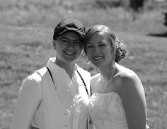 lesbian weddings   Jewish Backyard Lesbian Wedding (13) « A Practical Wedding: Blog ...