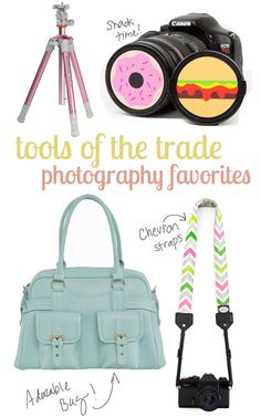 Tools of the Trade - my favorite camera accessories from Photojojo, Jo totes, Mod Straps and Target.