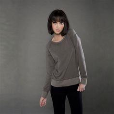 Eco-Hybrid Spandex French Terry Long Sleeve Raglan Sweatshirt - #madeiNUSA #MadeinAmerica $32.99 #B2b #Shopping via BuyDirectUSA.com