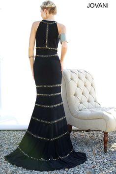 Jersey Jovani studded dress