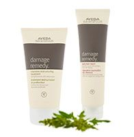 Aveda Damage Remedy helps strengthen and repair hair