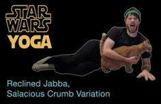 The Core Is Strong With This One. Yoda Yoga: Stretching Star Wars Style on YouTube. This is excellent for teaching kids lots of poses in a way that's relevant and meaningful to their lives.