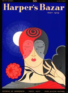 Harpers Bazaar, magazine, cover, 1926, August, Erte.