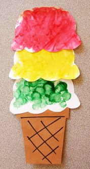 Pre K Summer Arts Crafts Dotted Ice Cream Preschool Kidscrafts