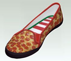 Pizza slippers. Ummm I'm not sure what board to put this under... I'm thinkin' food.