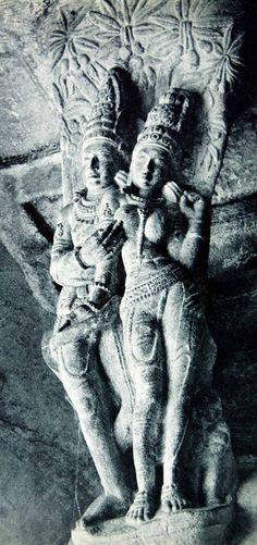 Hindu cave temple in Badami, India Chalukya dynasty